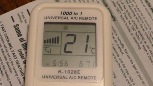 CHUNGHOP K-1028E UNIVERSAL A/C REMOTE