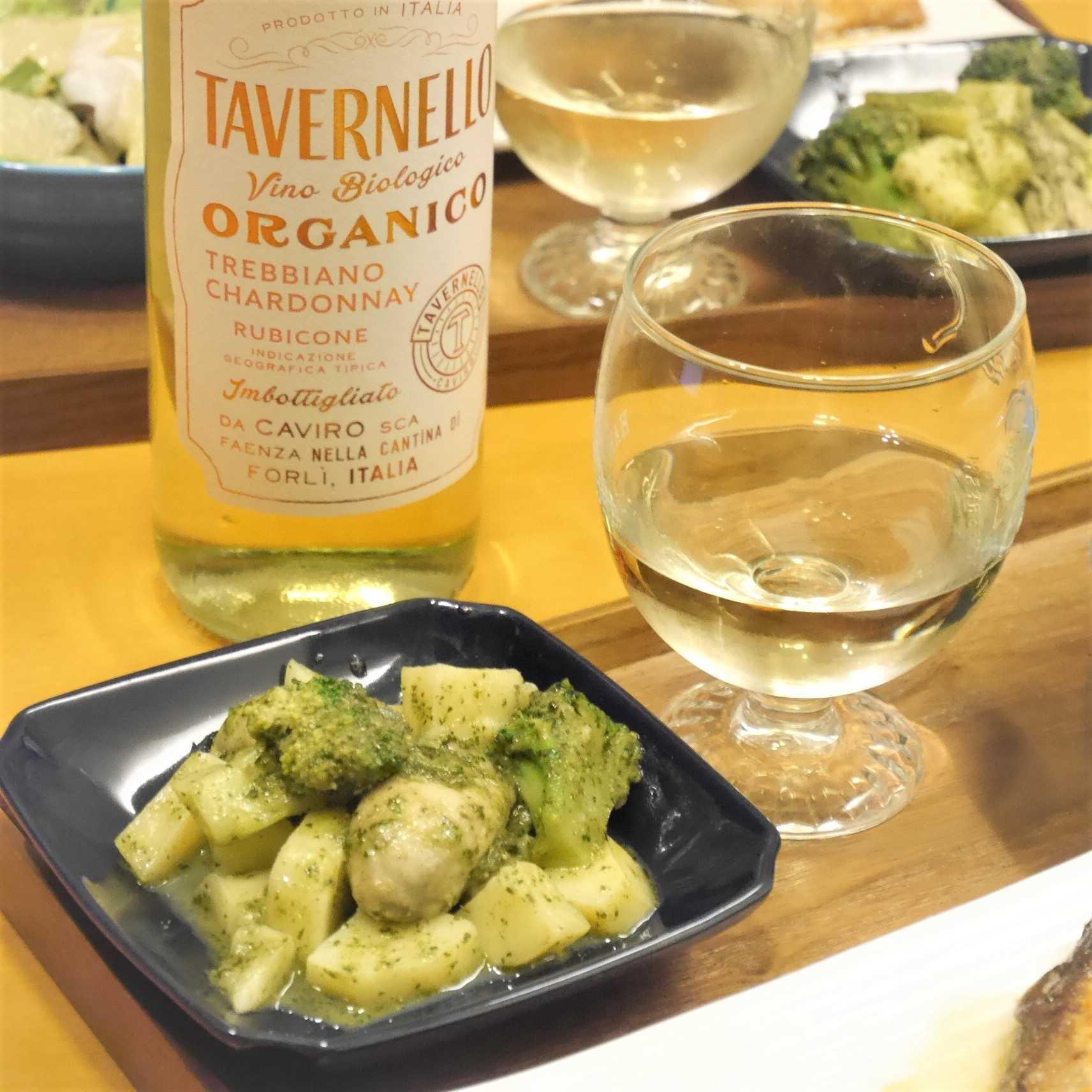 タヴェルネッロ オルガニコ トレッビアーノシャルドネ_牡蠣のバジルソース