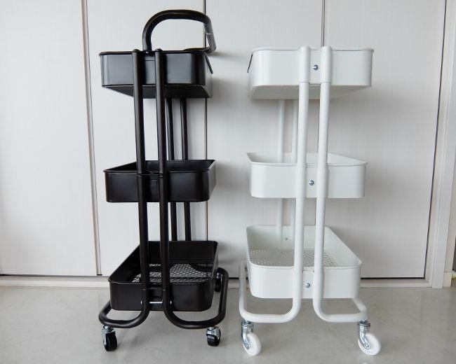 コストコ 3Tier Storagecaddy 円 EDIFICE キャスター ワゴン キッチン 収納