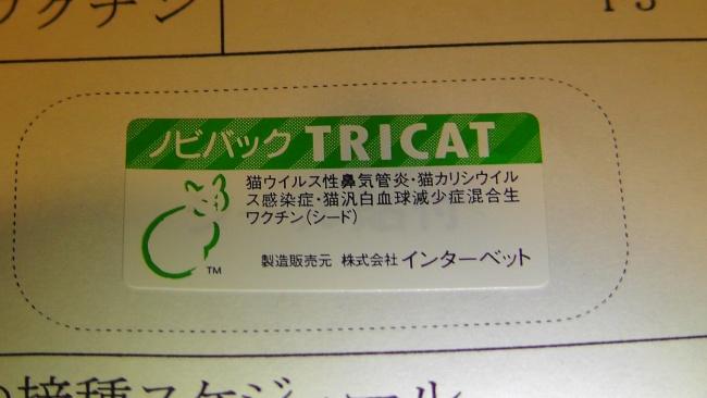 猫3種混合ワクチン ノビバック TRICAT