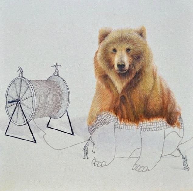 熊 編み物