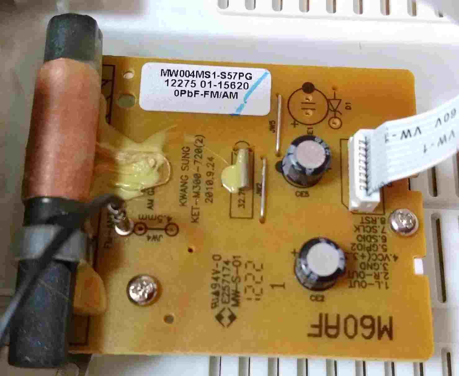 TY-CR20のラジオ基板表側