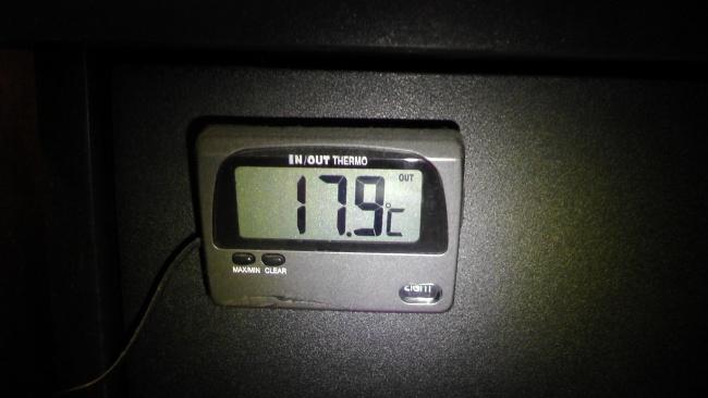 水槽の温度