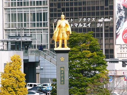 JR岐阜駅前 織田信長の銅像