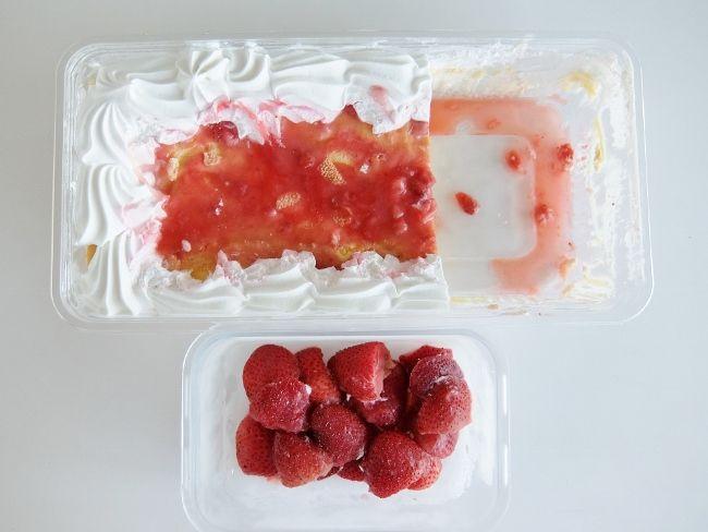 コストコ ストロベリー スコップケーキを冷凍 方法 保存 味 おいしい 円