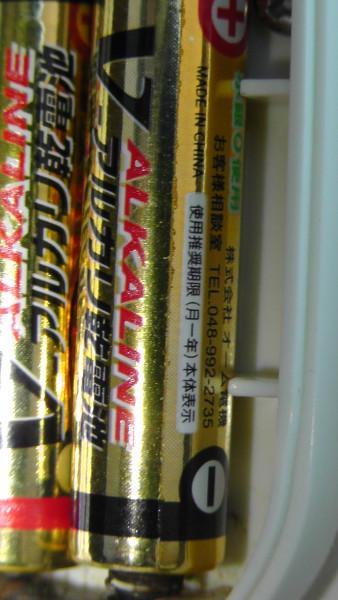 100均のアルカリ電池?