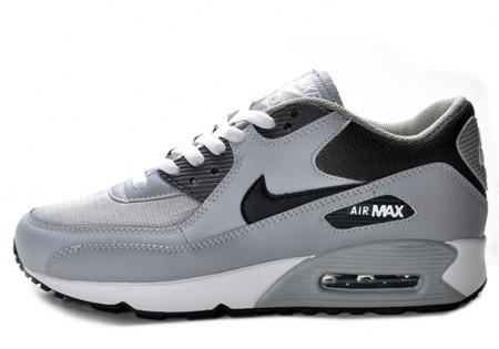 【2012新作】NIKE AIR MAX 90 LE WOLF GREY/BLACK-MIDNIGHT FOG (ナイキ エア マックス 90 LE)  325018-055