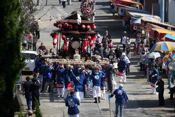 川田八幡神社の秋祭り-01♪