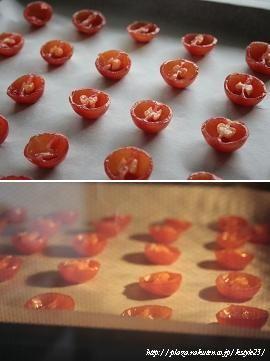 自家製セミドライトマト作り
