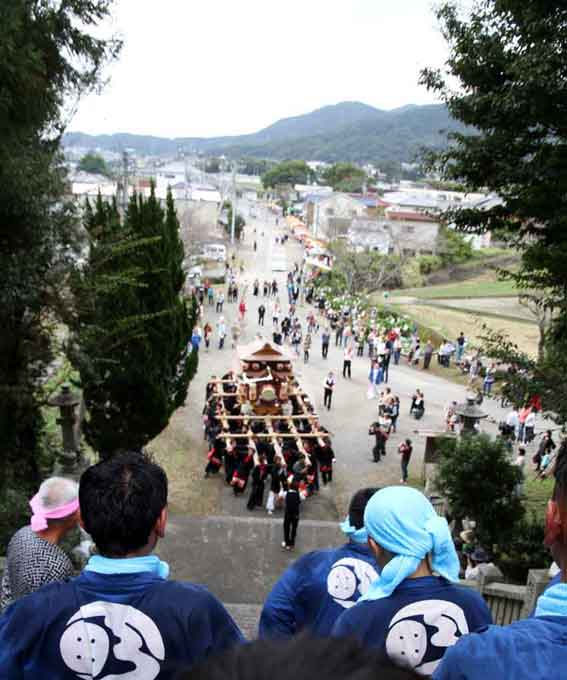 川田八幡神社の秋祭り-02♪