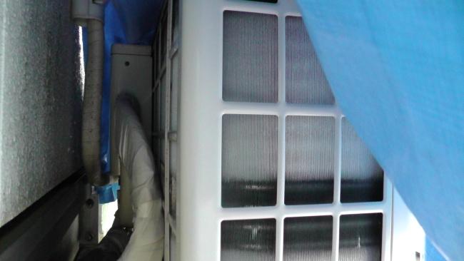 室外機の熱交換器に霜が付く