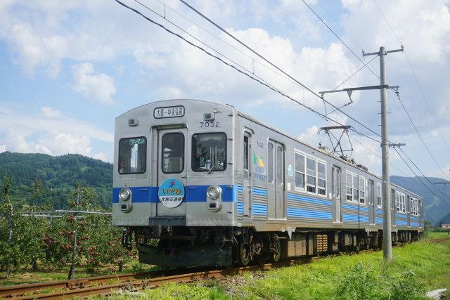 弘南鉄道 青いリンゴ 赤いリンゴ2