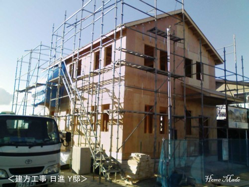 2x4の建方工事 Y邸