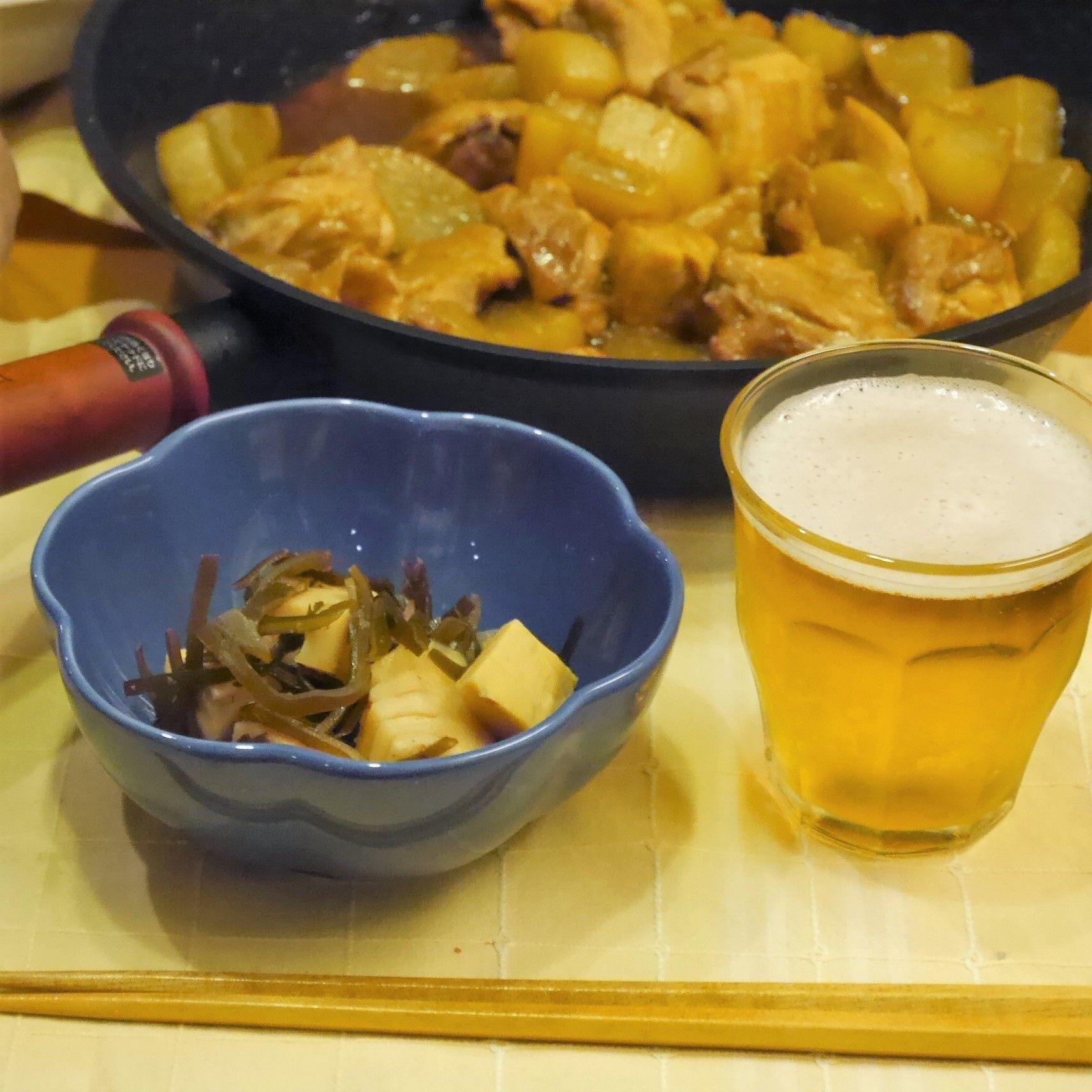 『もう一品』竹の子_竹の子と真昆布の煮物_食卓
