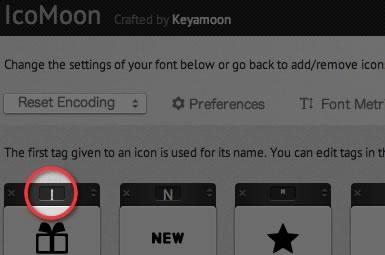 IcoMoon key