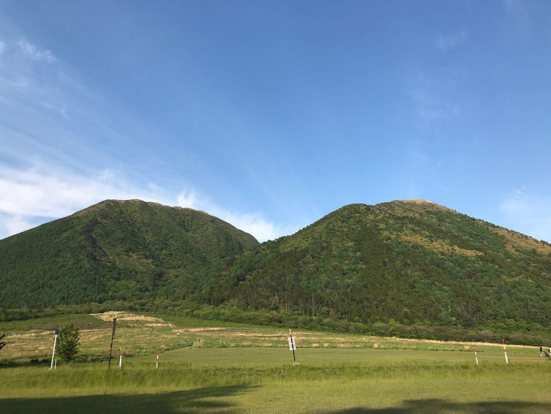 三瓶山 登山 西の原 トレッキングポール