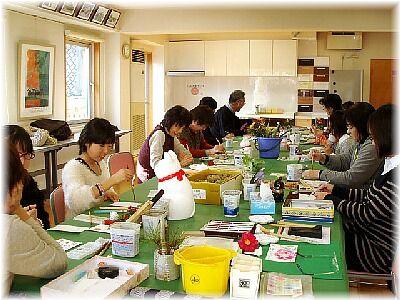 2012.1.5  徳本工務店絵手紙教室