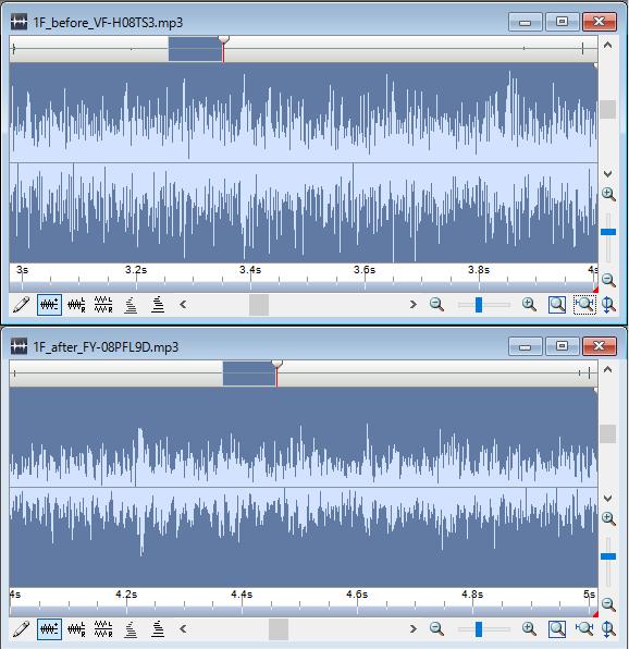 1Fトイレ換気扇:VF-H08TS3とFY-08PFL9Dの騒音を比較
