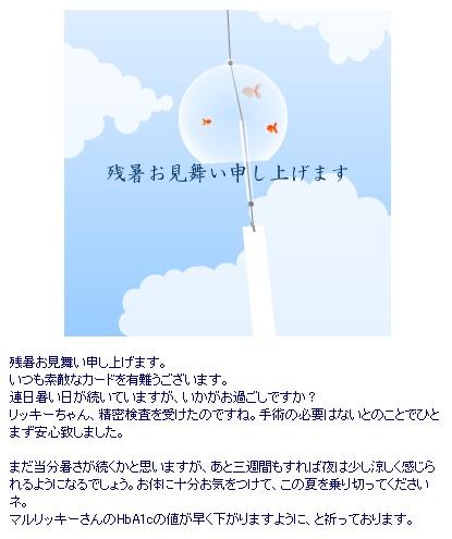 2012残暑見舞い_Keiko