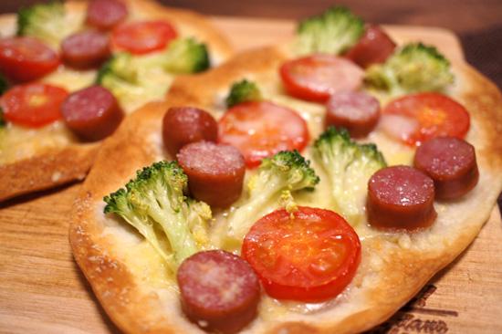 手のひらピザ
