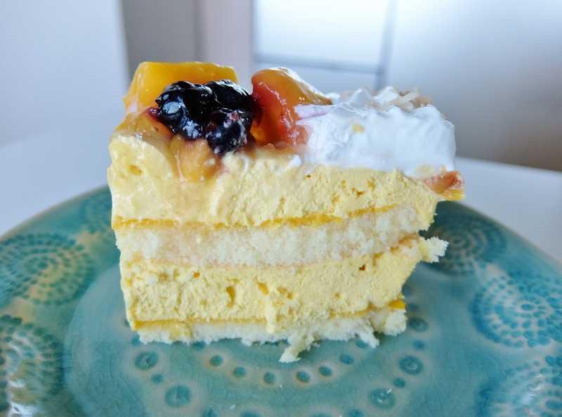 コストコ レポ ブログ マンゴームーススコップケーキ 円 MangoMousseScoopCake デリ ケーキ 新商品 味