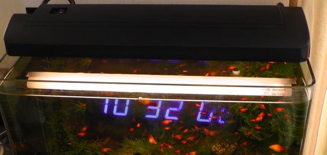 コトブキ スカイライト600 スリムを水槽に載せる