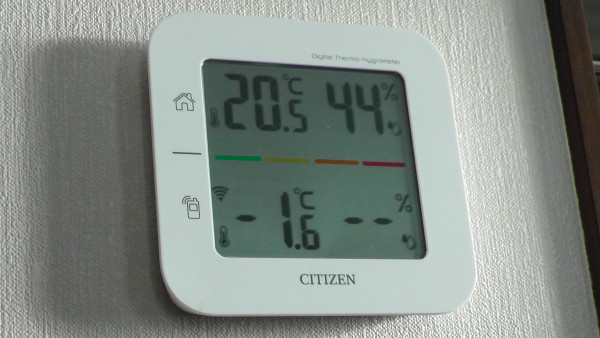 マイナス1.6℃
