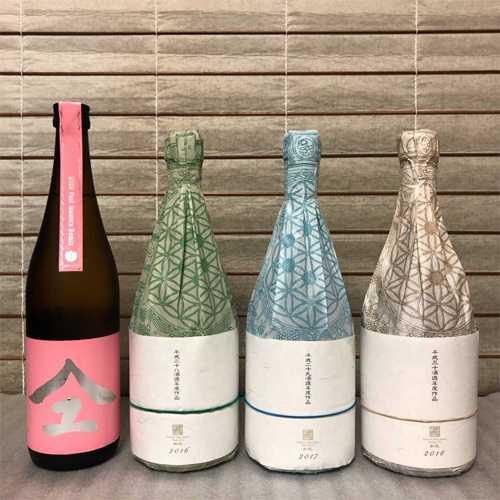 新政酒造 桃やまユ・緑やまユ・青やまユ・白やまユ