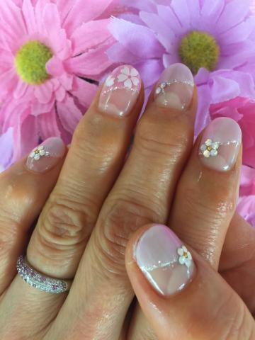 桜のジェルネイル2
