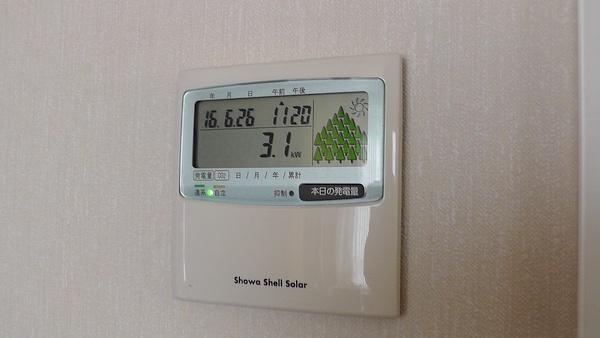 発電量モニター 3.1kW