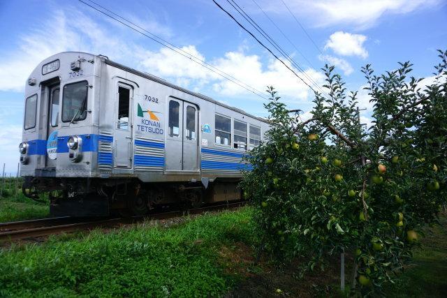弘南鉄道 青いリンゴ 赤いリンゴ3