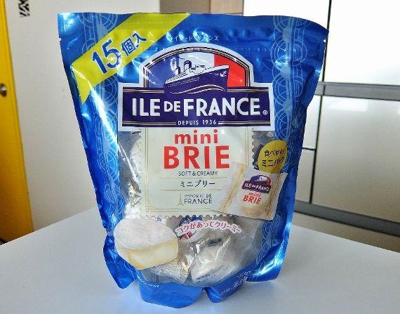 コストコ Mini Brie 15P 1378円 ILE DE FRANCE ミニブリーチーズ mini Brie soft&creamy
