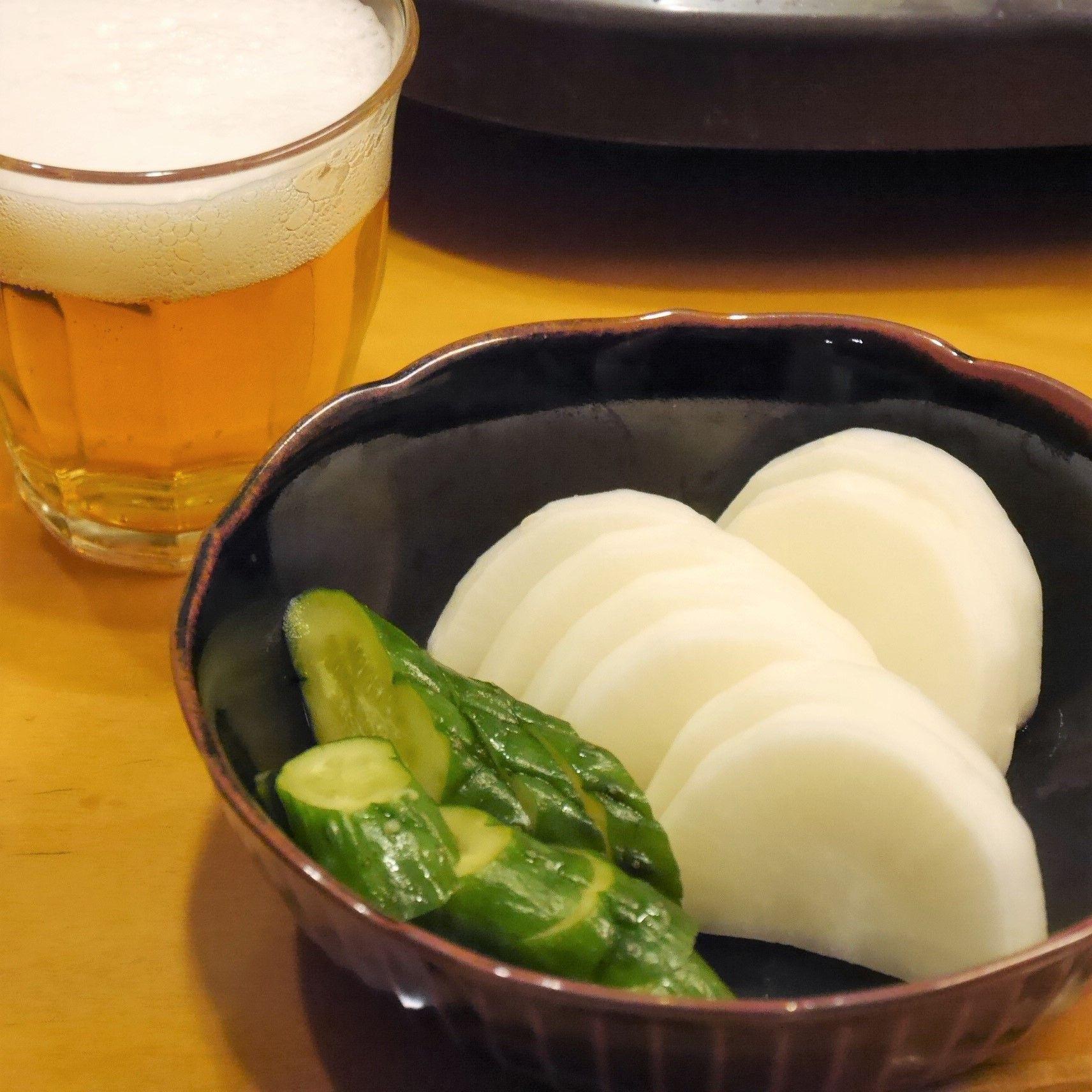 柚子大根&ビール