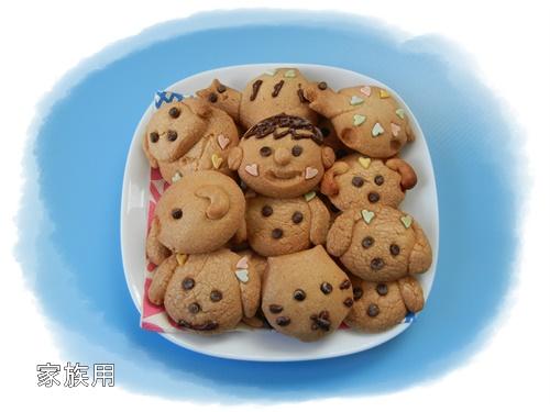 家族用のリッキー&ノエル型クッキー