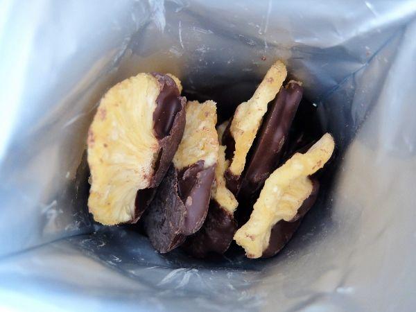 コストコ KS チョコレートパイナップル 円 カークランド ハーフディップ ダークチョコレート パイナップルリング<br />