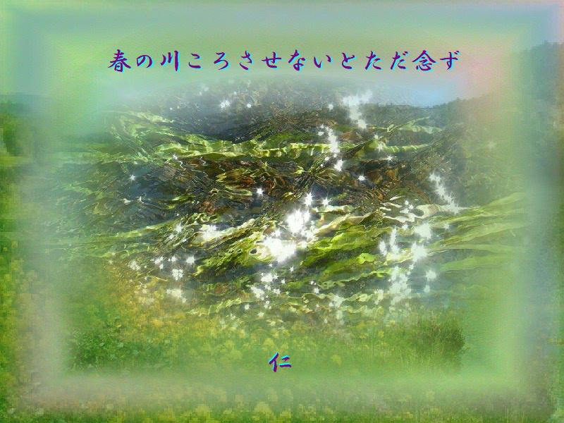 フォト575rz1203『 春の川ころさせないとただ念ず 』