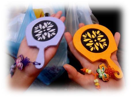 思い出の韓紙手鏡