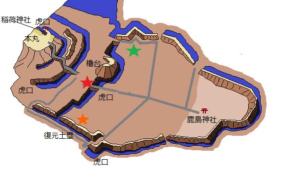 真壁城らくがき地図2