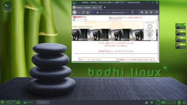 Bodhi Linux 6.0のデフォルトデスクトップ