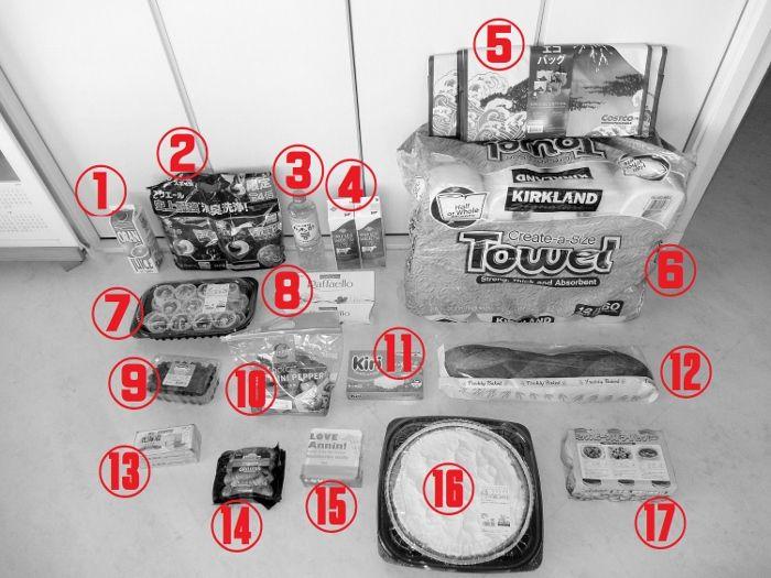 コストコで買った商品のレポ 値段 円 買い物 詳細
