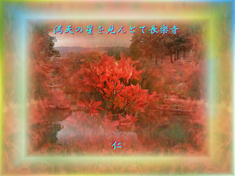 フォト575『 満天の星を見んとて長楽寺 』