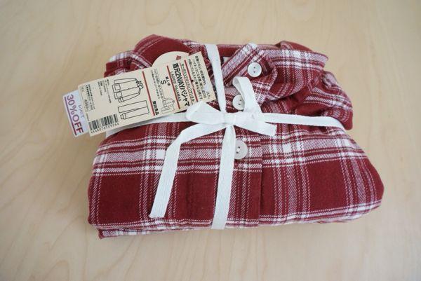 無印良品のフランネルパジャマのサイズ感と洗濯後の縮み