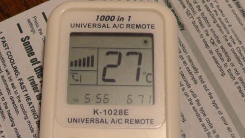 F.Heat CHUNGHOP K-1028E UNIVERSAL A/C REMOTE