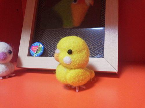 妻の作る鳥の羊毛フェルトマスコットを作ってみた