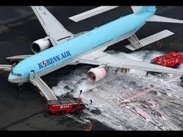 大韓航空機炎上