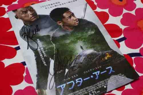 ウィル・スミスさんとジェイデンくんにサインをいただきました