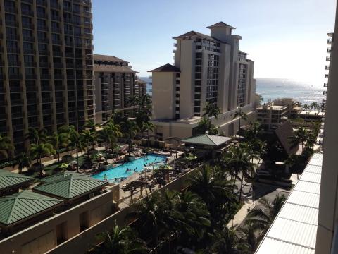 ラナイからの眺め@トランプインターナショナルホテルワイキキビーチウォーク