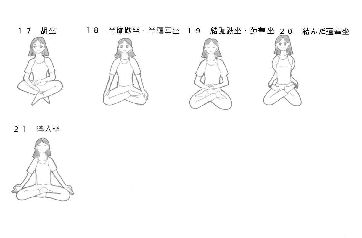 坐る姿勢イラスト解説C