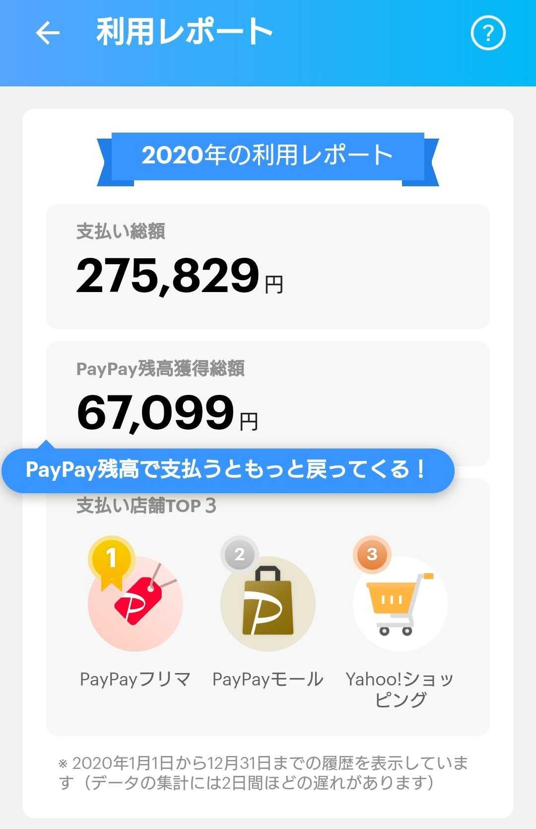 総額 Paypay 残高 獲得