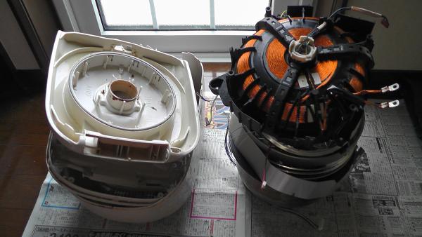 炊飯器の分解と分別